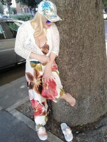 Cicciolina nel centro di Roma, Luglio 2019