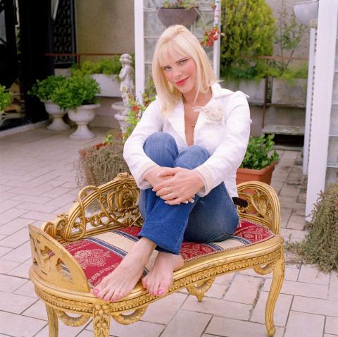 Ilona Staller nel suo attico a Roma. 2007