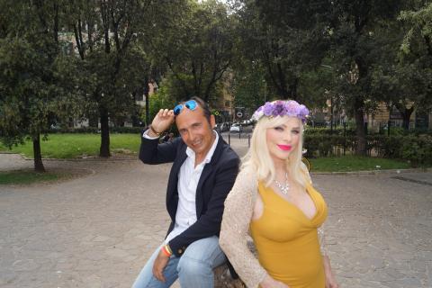 Cicciolina con Gianni Domingo Bove